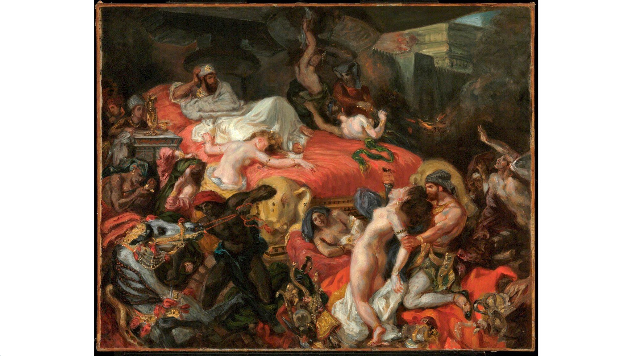 (Eugène Delacroix: 'The Death of Sardanapalus (reduced replica)', 1846. © Philadelphia Museum of Art, Pennsylvania)