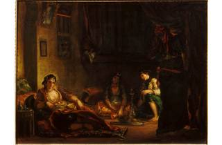 (Eugène Delacroix: 'Women of Algiers in their Apartment', 1847-9. © Musee Fabre, Montpellier Agglomeration)