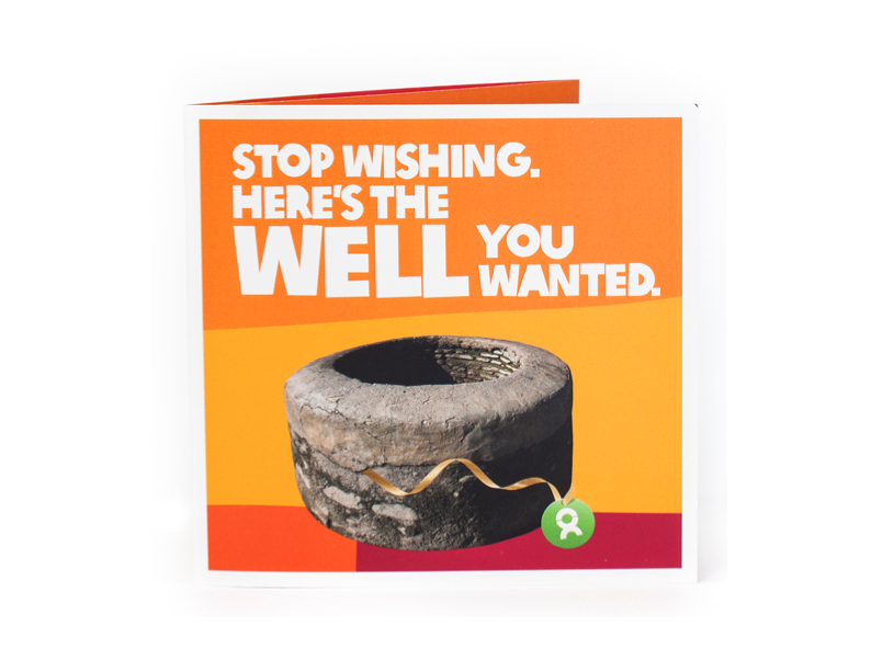 Charitable christmas gifts: fix a well with Oxfam