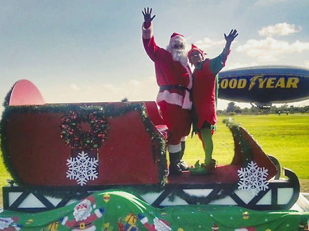 """Goodyear Blimp Toys for Tots """"Santa Claus Express"""" Toy Drive"""