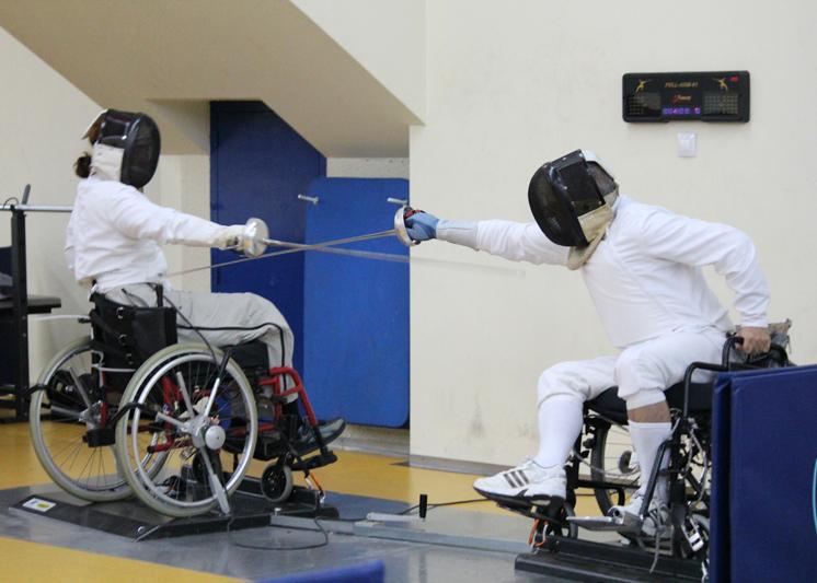 Esgrima en silla de ruedas