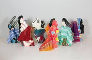(Betty Woodman: 'Kimono Ladies #1-6', 2015. © Betty Woodman. Photo:  Jeff Elstone)
