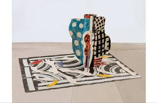 (Betty Woodman: 'Aztec Vase and Carpet #2', 2012. © Betty Woodman. Photograph: Bruno Bruchi)