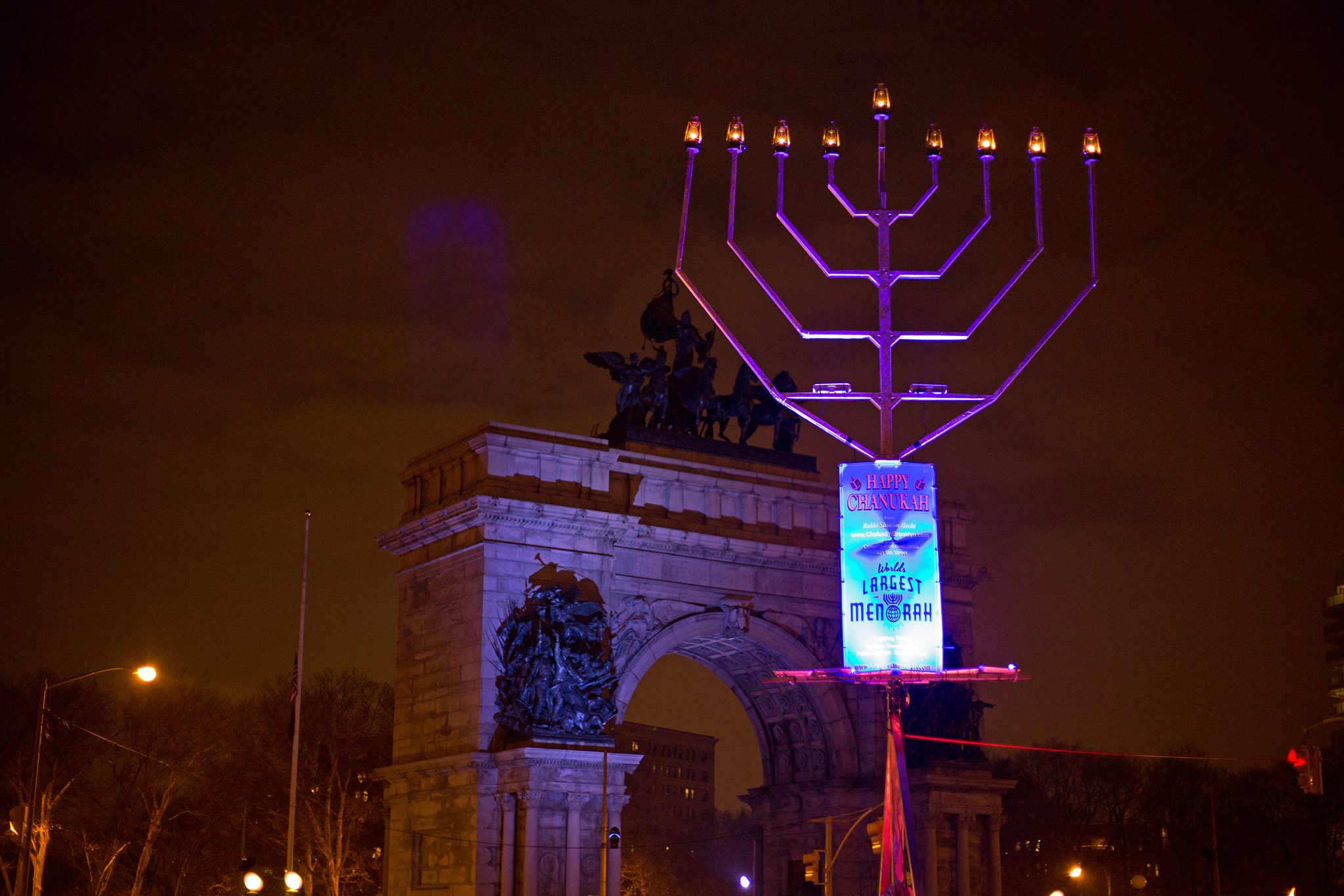 Image result for menorah lighting nyc