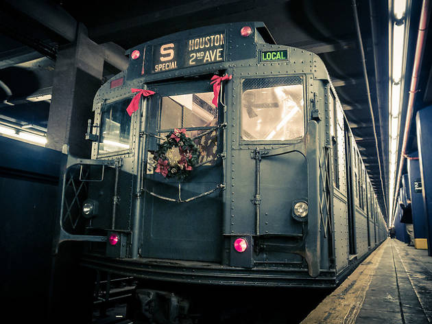 The magical vintage holiday trains are returning to the subway this year