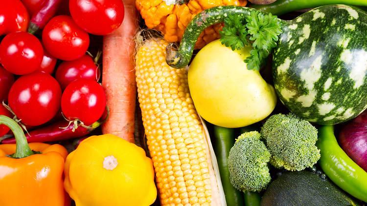 vegetales, frutas, saludable