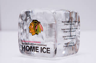 Blackhawks are selling pieces of United Center ice