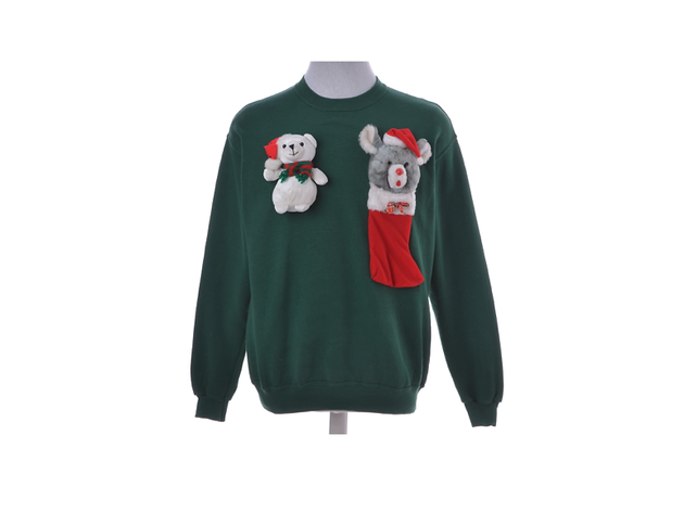 Christmas jumpers by Beyond Retro x St. Mungo's, various prices