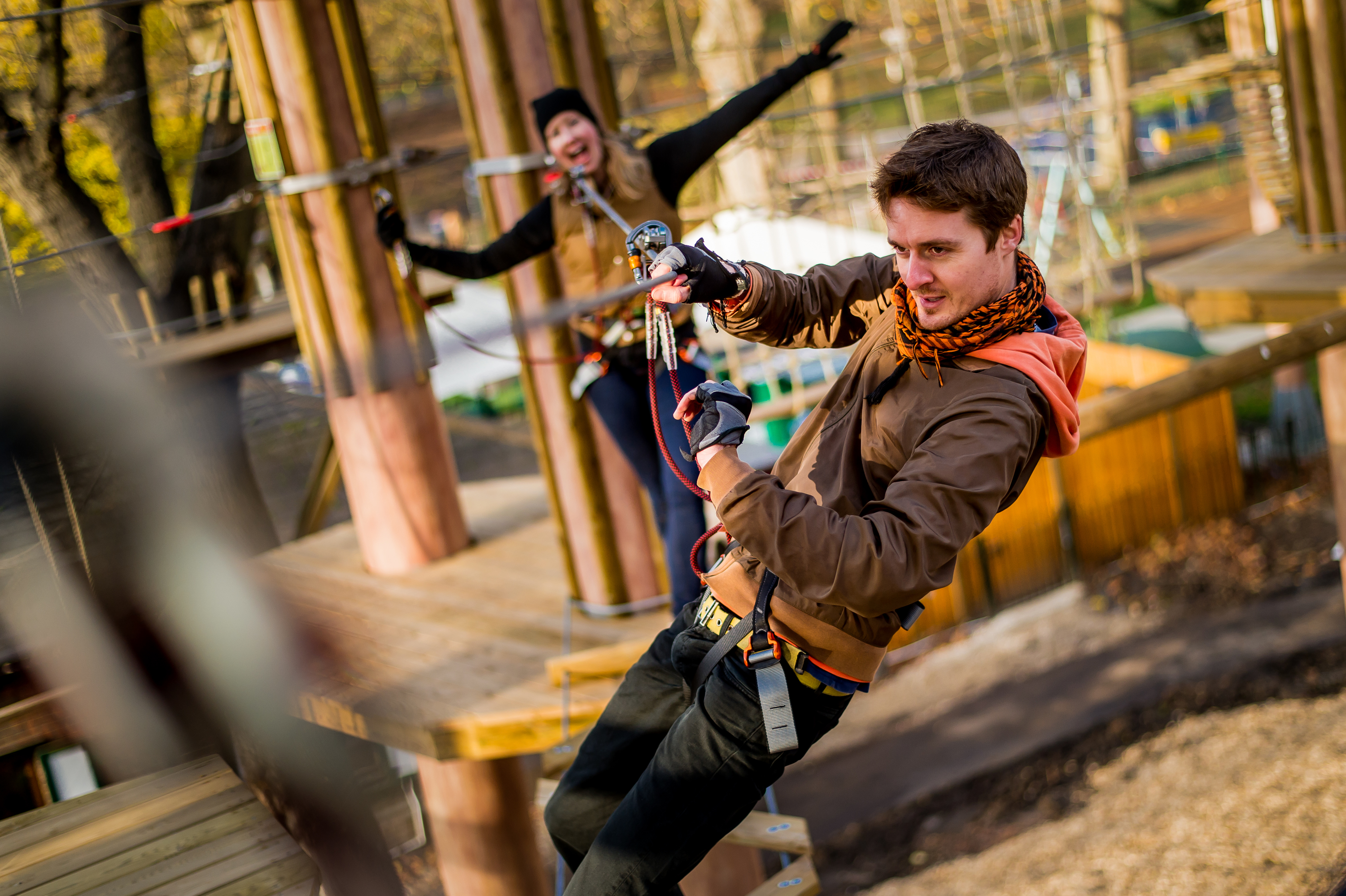 Go Ape at the Go Ape, Battersea Park, London on the 02/12/2015. Photo: David Tett