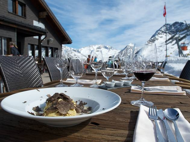 The best restaurants with winter sun terraces in Switzerland