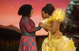 Shanice Williams and Uzo Aduba in The Wiz Live!