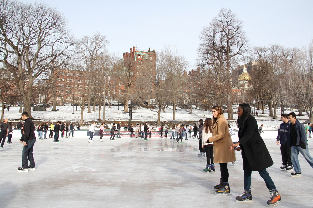 The best ice-skating rinks in Boston
