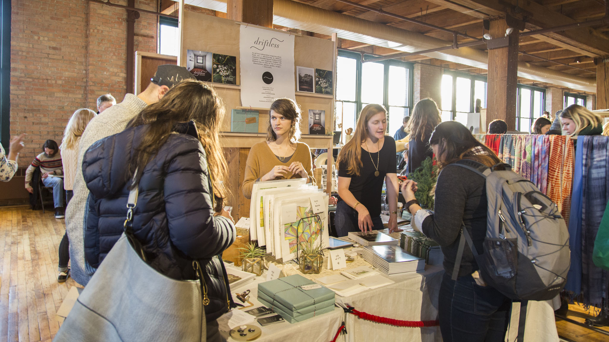 Shoppers browsed a selection of handmade goods at the Renegade Craft Fair.
