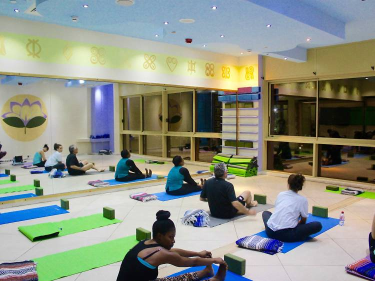 Bend and stretch at Bliss Yoga Studio