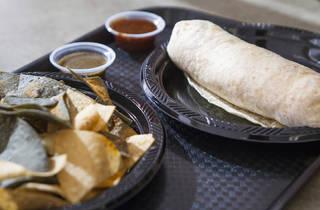 Burrito at Cilantro Mexican Grill