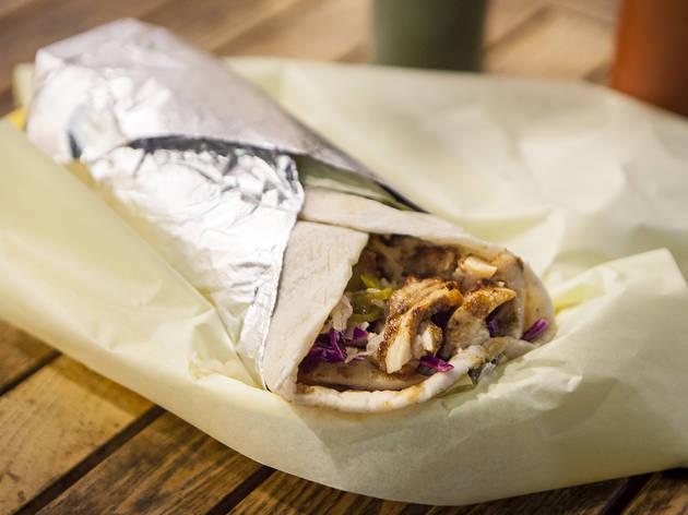 Shawarma laffa at Pita Bar & Grill