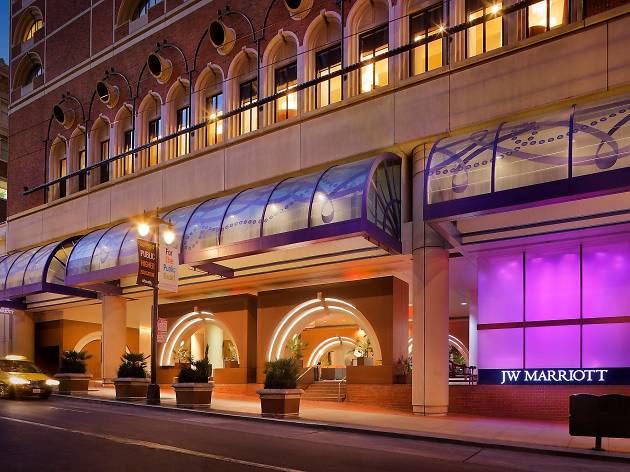 The JW Marriott, one of the best hotels in San Francisco