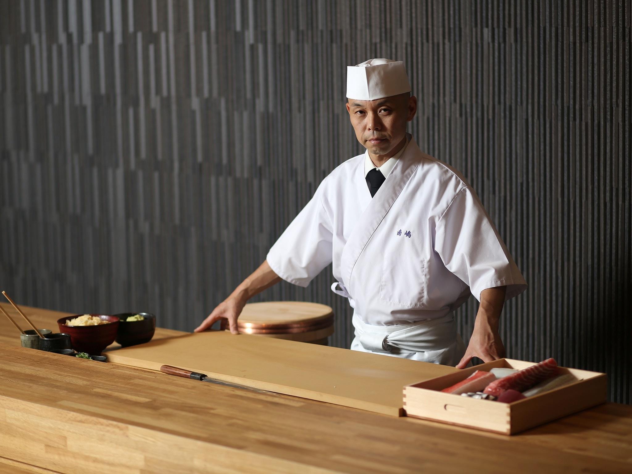 Chef Koichi Minamishima at Minamishima
