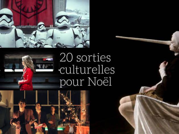 20 sorties culturelles pour Noël