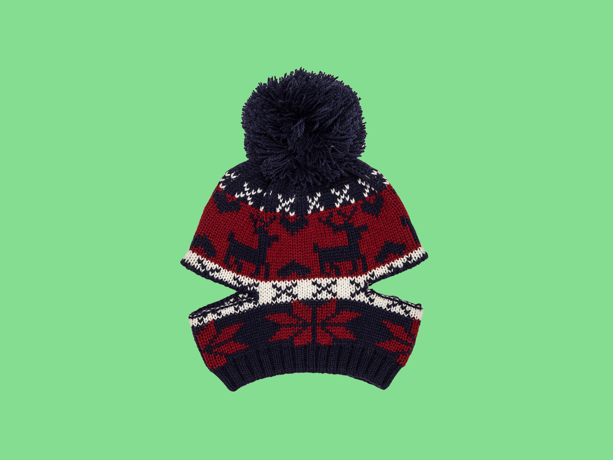 Traditional fair isle beanie hat