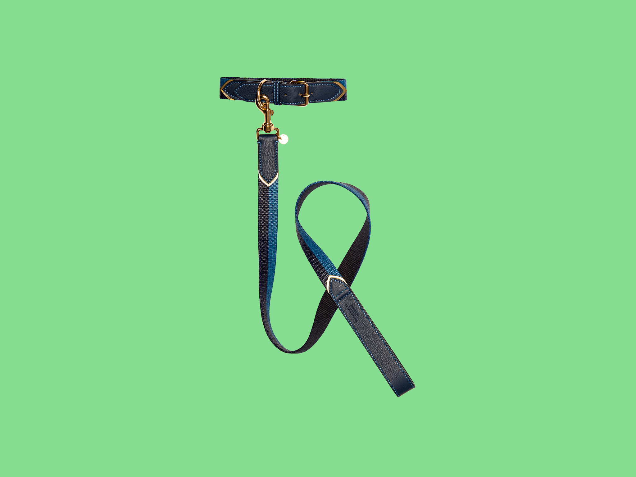 Dog lead and collar by Mungo & Maud for Mulberry