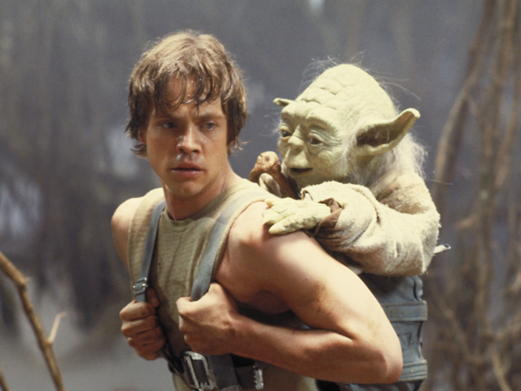 star wars empire strikes back - luke and yoda