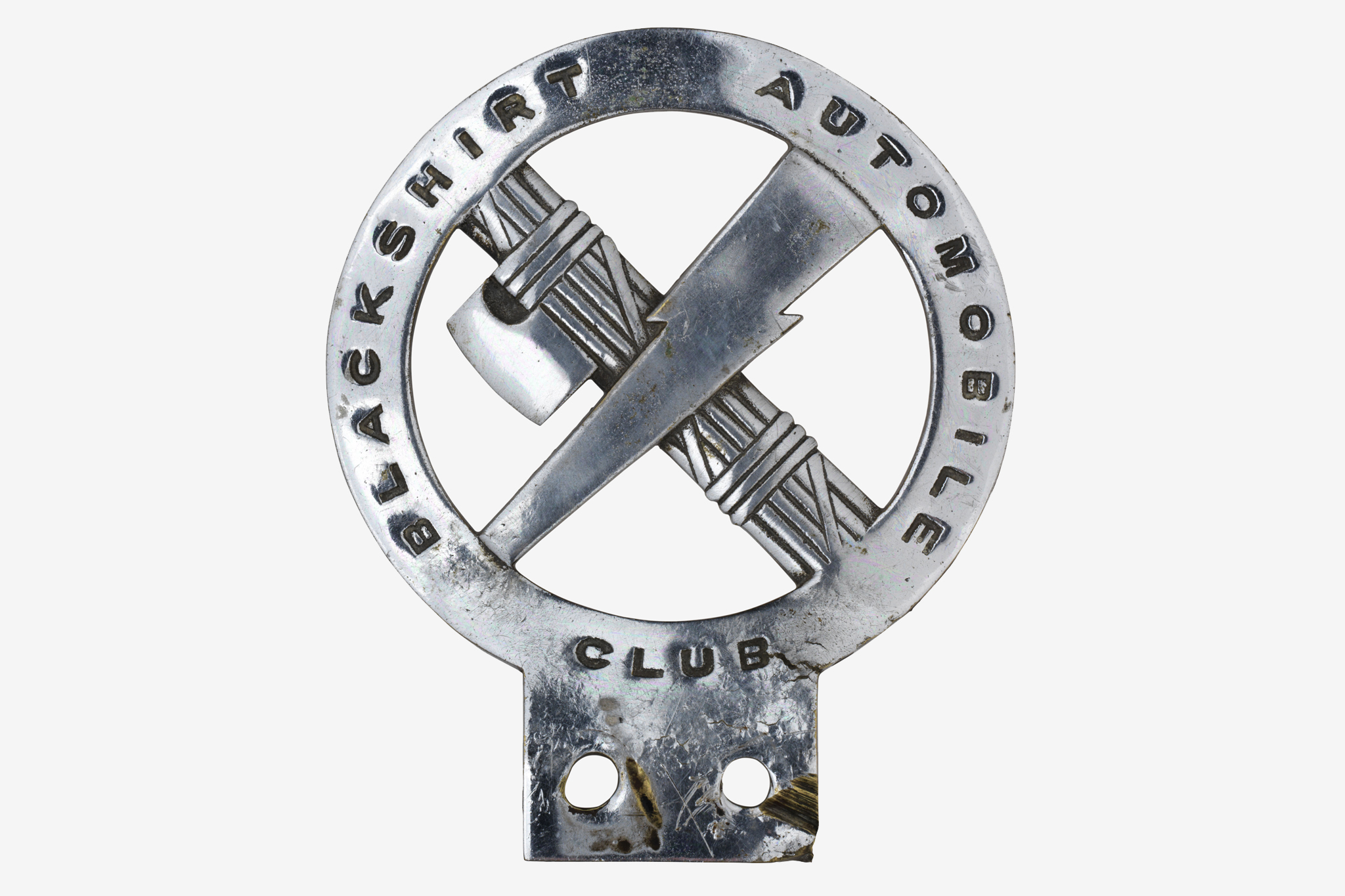 Blackshirt Automobile Club Car Badge at the Imperial War Museum