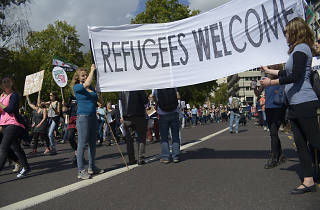 Solidarity with Refugee March
