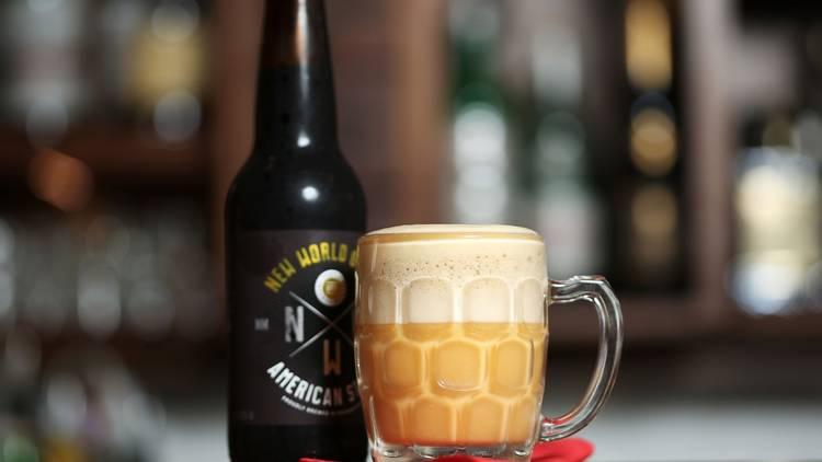 Beer cocktail at Black Pearl