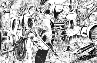(Jim Shaw, 'Prometheus: Liver is the Cock's Comb (black and white)', 2015)