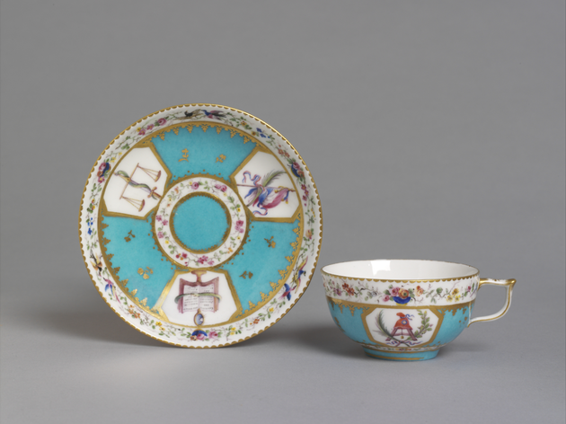 Sèvres cup and saucer, 1793-1800