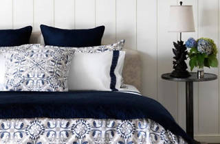Bedding from Frette will be available at a sample sale in Santa Monica from December 9 to 12.