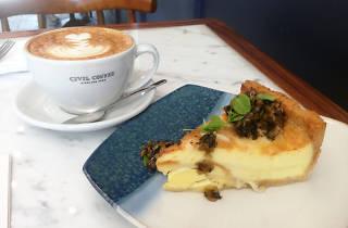 Quiche at Civil Coffee