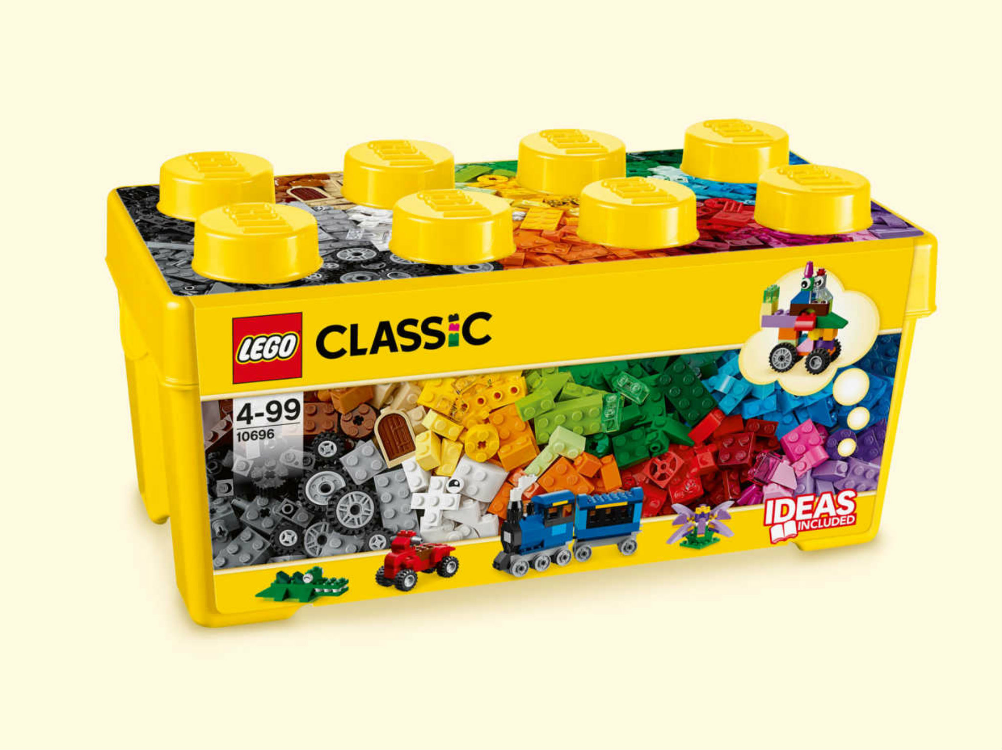 La caja clásica de Lego para Navidad