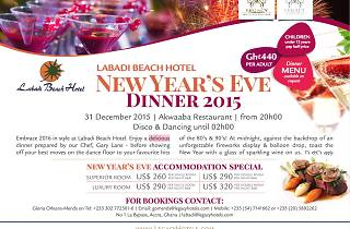 Bring in the New year at Labadi Beach hotel