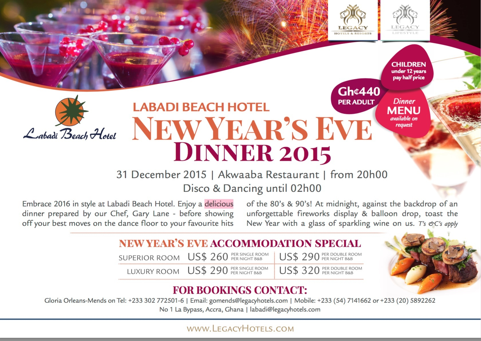 Bring in the New year at Labadi Beach hotel | Nightlife in Accra
