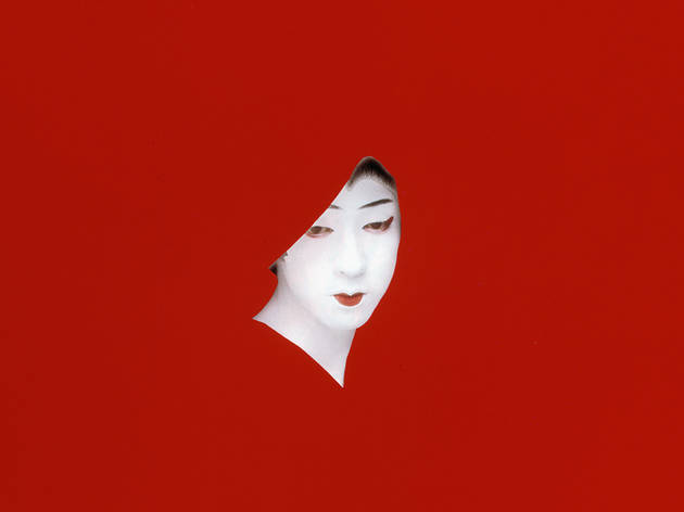 "Sarah Charlesworth, Red Mask, from the ""Objects of Desire"" series, 1983"