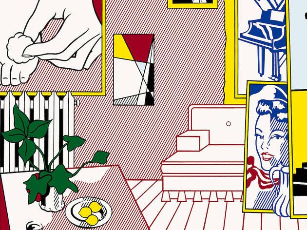"""Roy Lichtenstein. Artist's Studio """"Foot Medication,"""" 1974."""