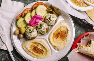 Falafel Plate with Lentil Soup
