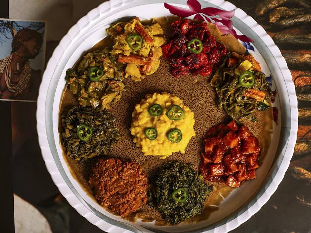 Vegetarian Combo at Lalibela
