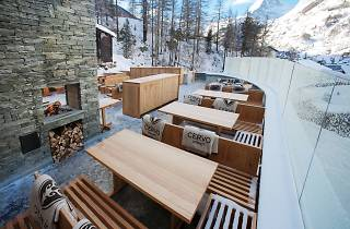 The Cervo terrace in winter