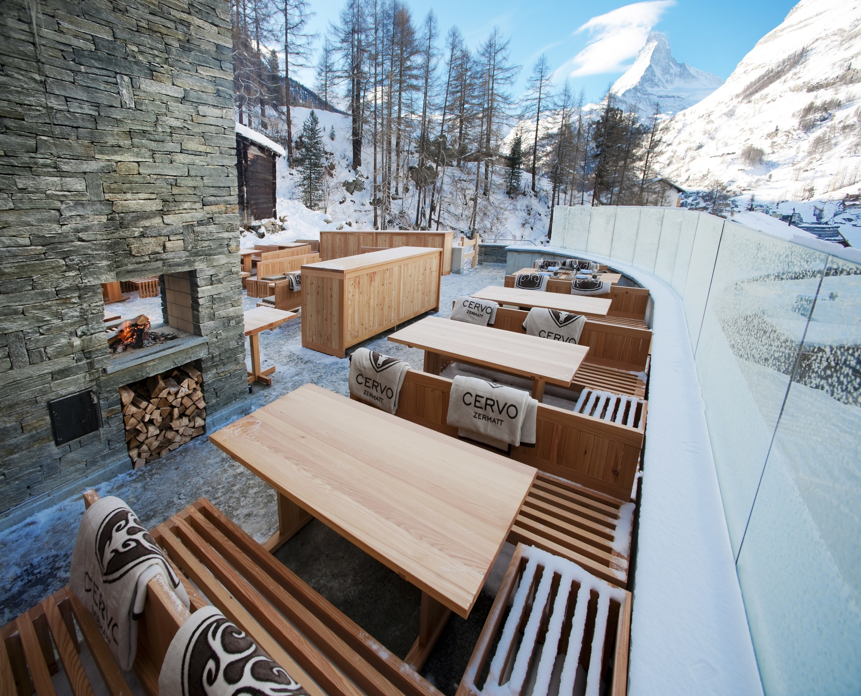 The Cervo terrace in winter