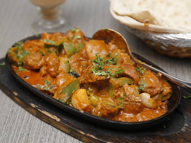 Tasty chapathi spicy mutton