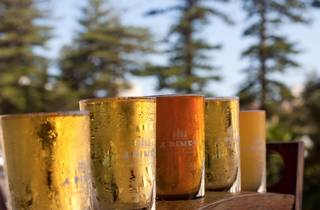 A close up shot of a rack of beer at 4 Pines Brewing Company