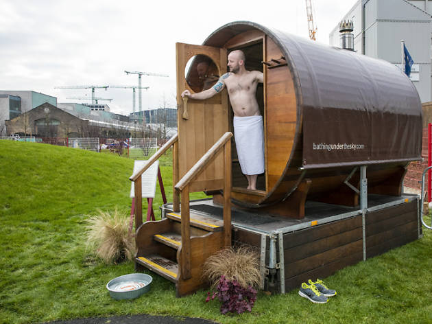 Hot stuff! An outdoor sauna opens at the King's Cross Pond