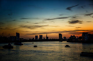 London sunset from Greenwich.