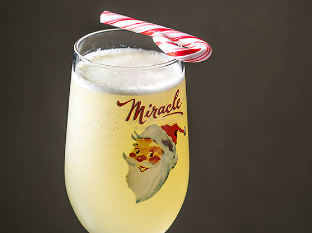 miracle at mace candy cane fizz - Best Christmas Cocktails