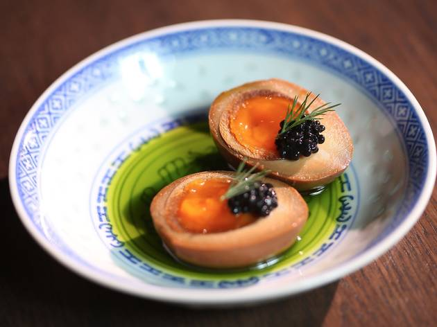 Tea smoked eggs at Lee Ho Fook (Photograph: Graham Denholm)