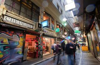 A shot of the Centre Place laneway in the Melbourne CBD
