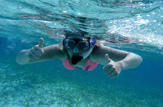 A generic image of a woman snorkeling underwater